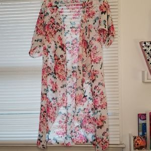 Lularoe Pink Rose Shirley